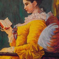The young girl reading