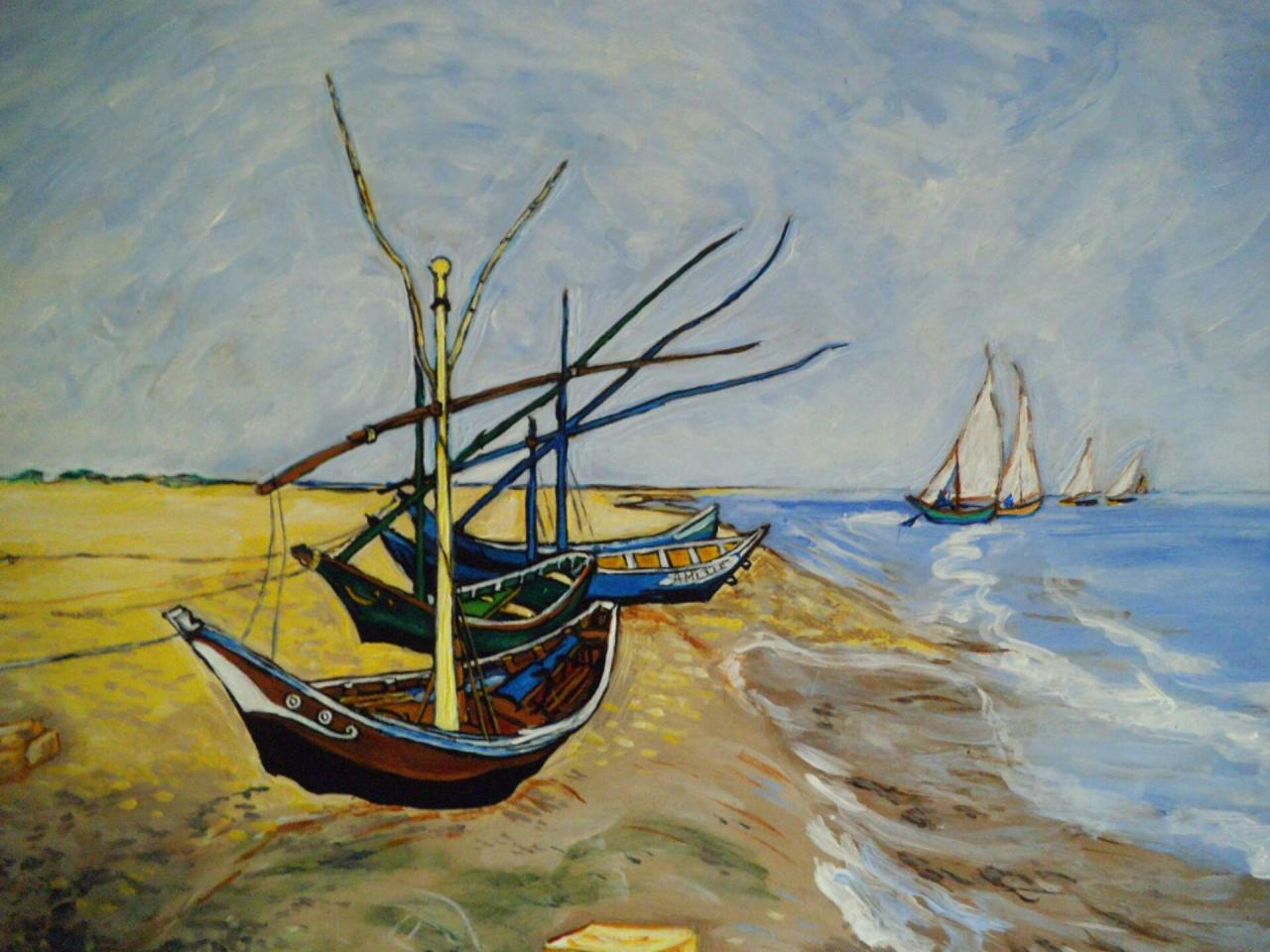 Fishing boats on the beach of Saintes-Maries-de-la-Mer