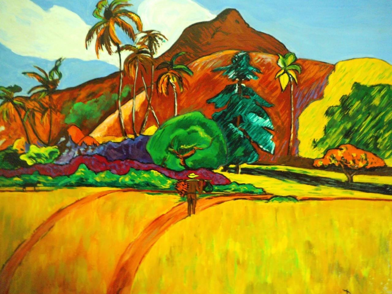 Paysage tahitien