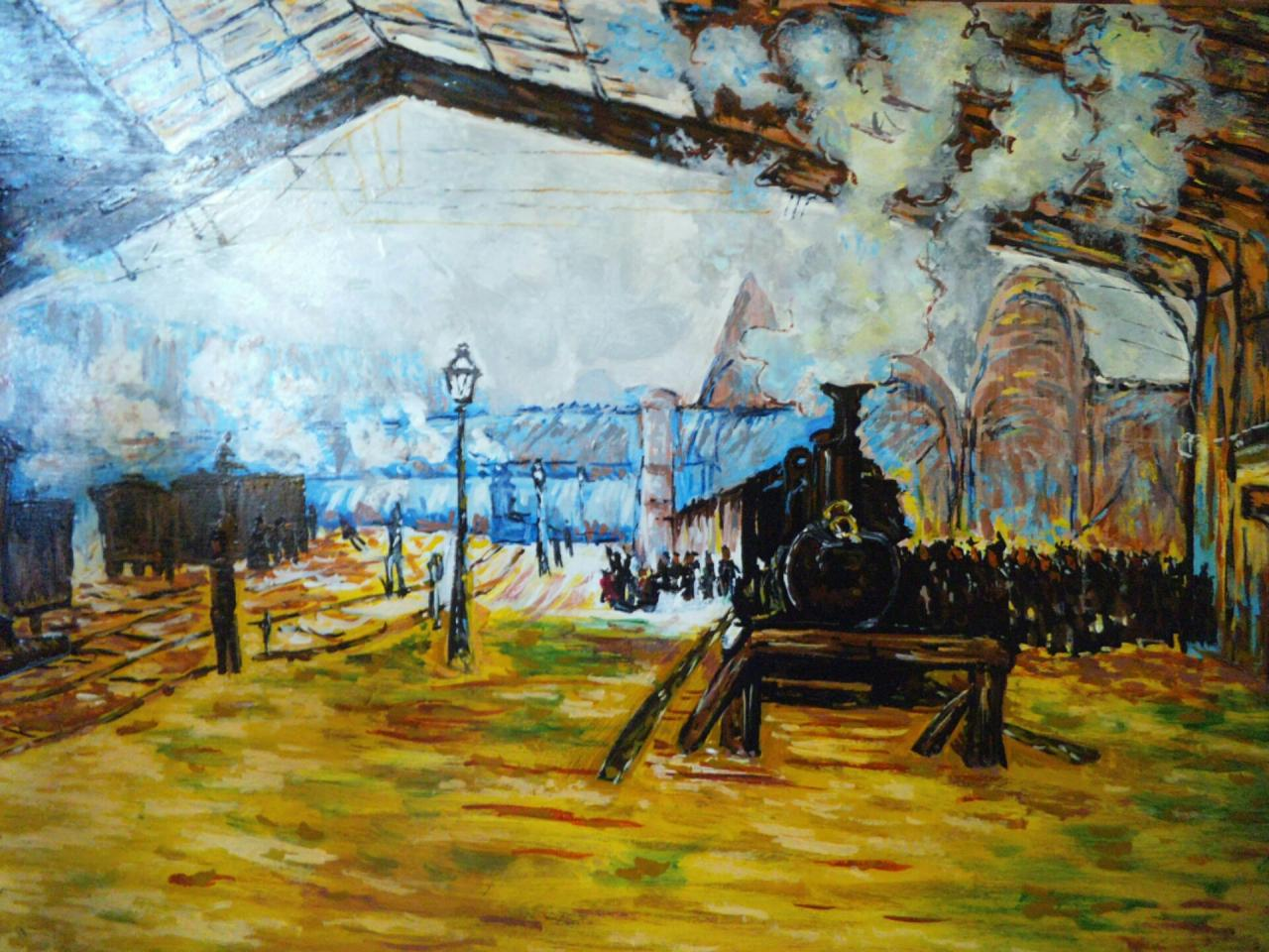 The Saint-Lazare station, the Normandy train