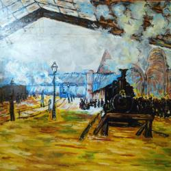 La gare Saint-Lazare, le train de Normandie